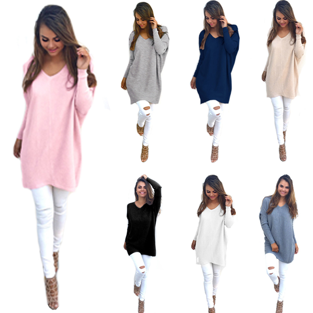 Pull Femme Manche Longue 7 Colors Women Sweater Loose Style Womens Sweaters  Fashion Autumn Long Sleeved Pullover Sweater Women 34611e87c