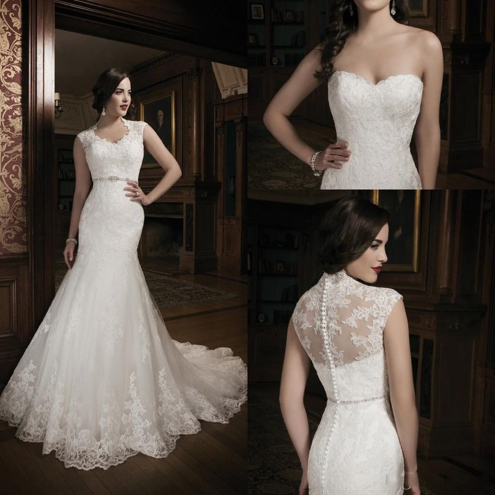 Mermaid Lace Wedding Gown: 2015 New Collection Mermaid Lace Ivory Wedding Dress