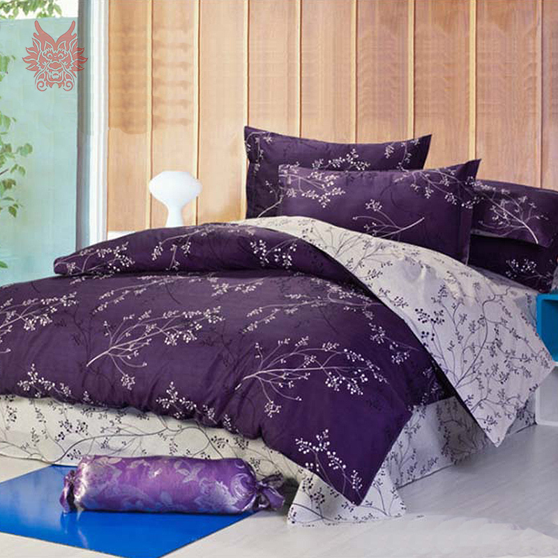 Free Ship Purple Dark Red European Style Pure 100 Cotton