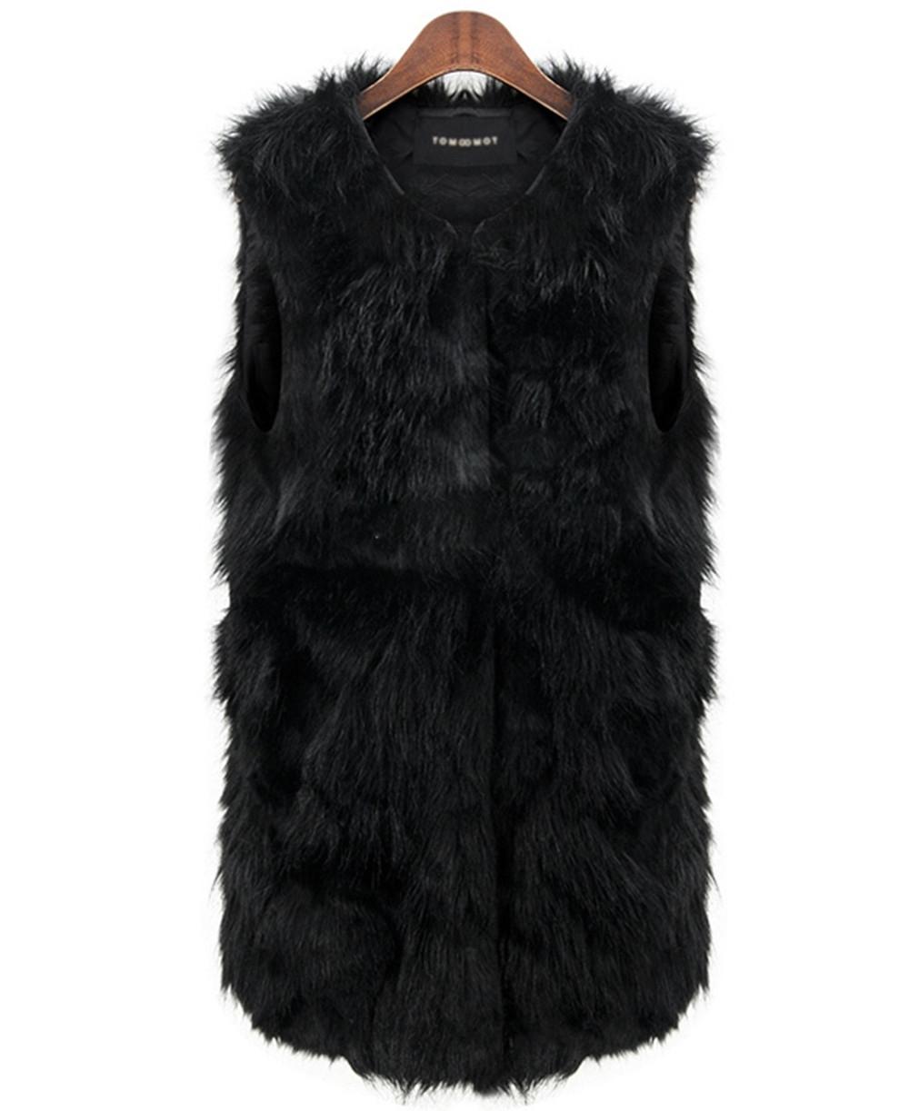 Женщины теплая зима искусственной меховой жилет Большой размер женский и пиджаки куртки жилеты де Pelo Mujer Colete Feminino весте роковой