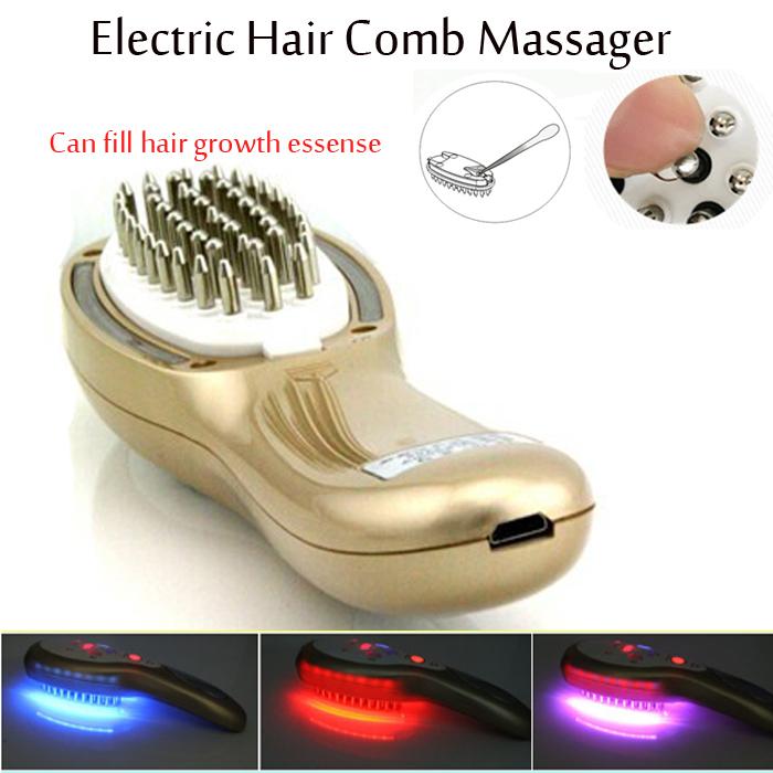 Electric Laser Head Hair Scalp Follicle Massager Comb Bio