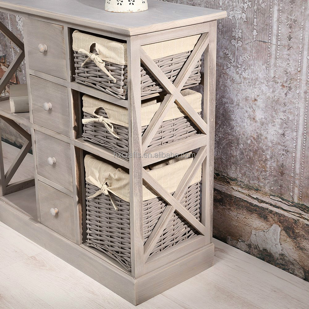 meuble avec panier osier. Black Bedroom Furniture Sets. Home Design Ideas