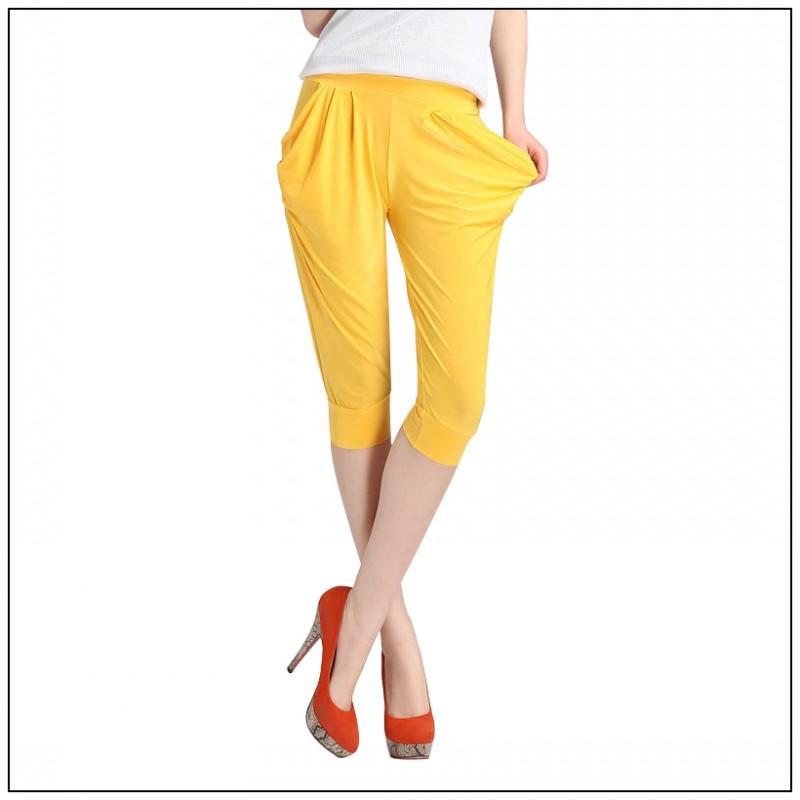 9ece47648 New 2017 Summer Harem Capri Pants Woman Fashion Loose Pants Plus Size Women  Popular Capri Womens Pants