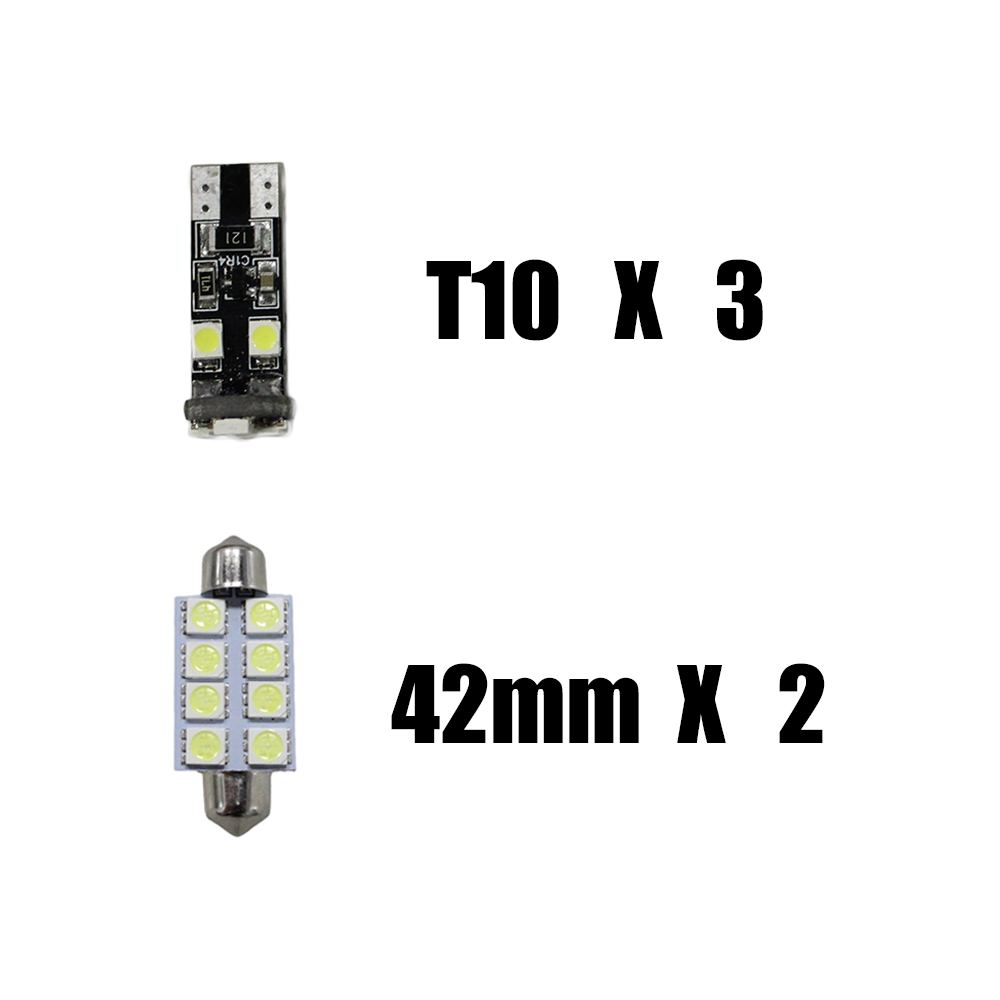 For SKODA Octavia RS Fabia Rapid Car Led Interior Light Replacement Bulbs  Dome Map Lamp Light Bright White T10 42mm 5PCS - us98 783e19a4fedb