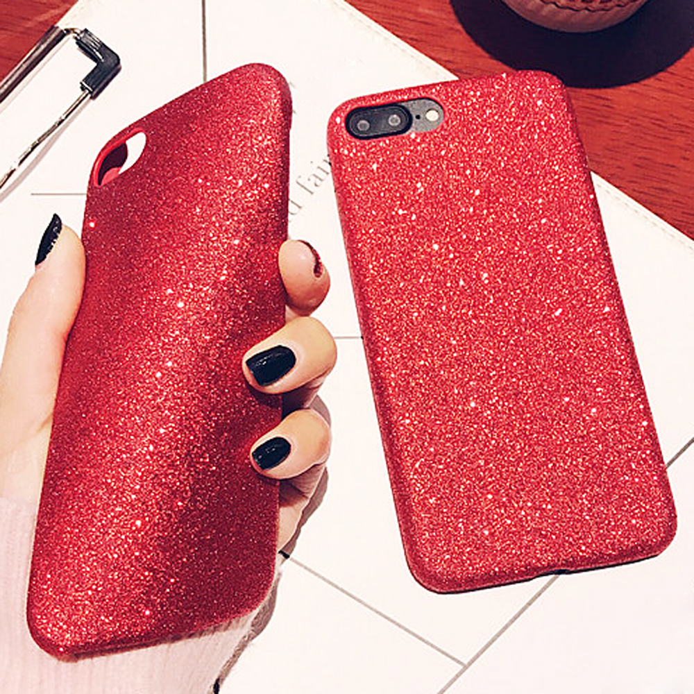 the latest 90da1 17dd9 For iPhone 7 Plus Soft TPU Silicone Case Luxury Bling Glitter Sparkle  Shockproof Phone Case Covers For iPhone 6 6s 7 Plus Capa