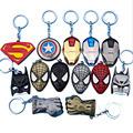 Superman VS Batman iron man Deadpool keychain ring toy set 2016 New Superhero Captain America shield