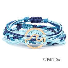 Женский многослойный браслет BYSPT Feminina, Пляжная бижутерия в стиле бохо, Подарочная подвеска в виде волн(Китай)