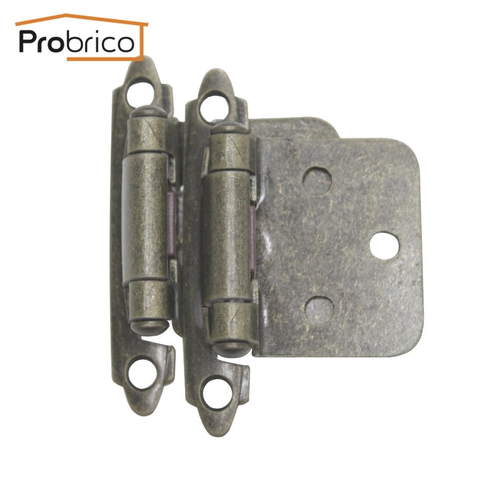 Kitchen Cabinet Hinge Hardware: Probrico Self Close 4 Pair Antique Bronze Kitchen Cabinet