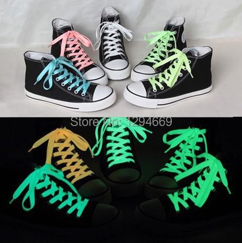 4c8f57fb6dfe 2 штук спорт светящийся шнурки светится в темноте цвет светящийся шнурки  лежа обувной шнурки 120 см 5 цветов