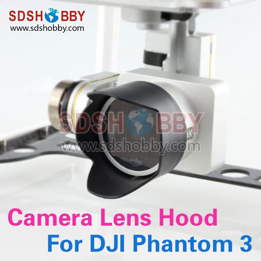 DJI Phantom 3 Camera Lens Hood Sunshade Antiglare DJI Phantom 3 Accessory Black