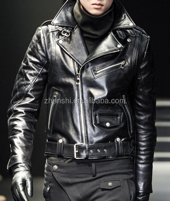Italy Style High Quality Mens Latest Fashion Biker Leather