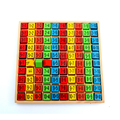 2016 New Arrival Educational Toys 99 Multiplication Table Math Toy 10 10 Figure Blocks Baby Toys