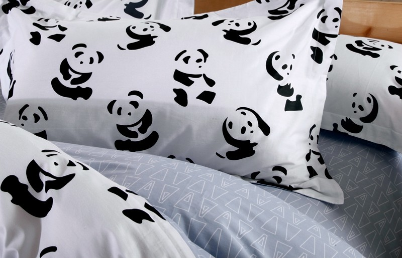 Wholesale Black And White Bedding Set Panda 100 Cotton