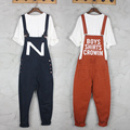 HOT 2016 New bib pants casual lovers suspenders trousers cartoon personality hiphop pants strap pants overalls