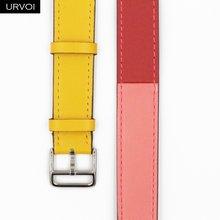 URVOI 2019 двойной ремешок для Apple Watch series 5 4 3 2 1, ремешок для iwatch, Экстра длинный ремень, высококачественный ремешок из натуральной кожи(Китай)
