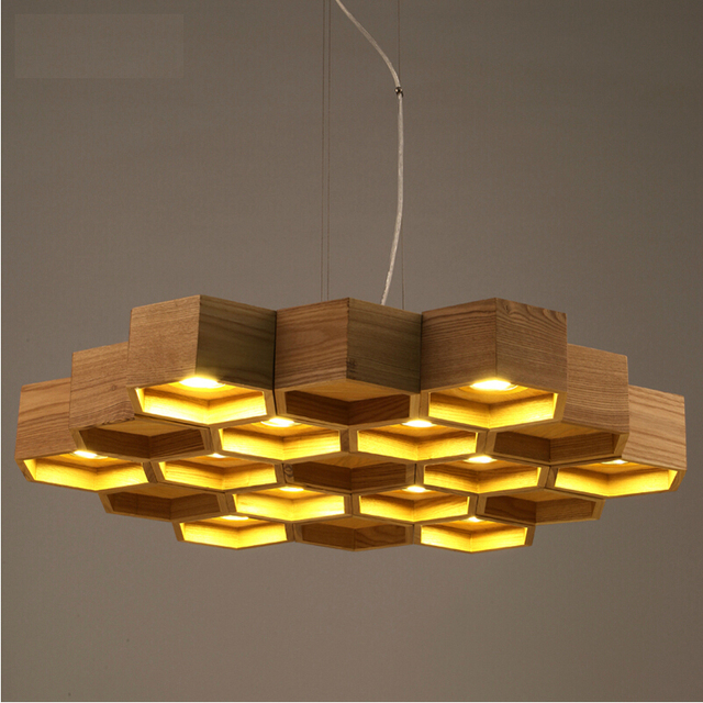 slatted wooden structure Pilke series Pendant lamps by