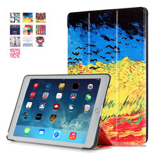 New 2016 PU Leather Stand Cover Case for iPad Pro 9.7 + 2 Pcs Screen Protector Gift Multi Color Tablet Case
