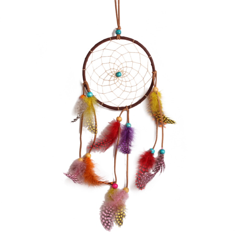 Pure White Feather Woven Dream Catcher Circular Net With: Dream Catcher Craft Promotion-Shop For Promotional Dream