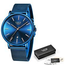 LIGE, женские часы, Лидирующий бренд, Роскошные водонепроницаемые часы, модные женские ультра-тонкие повседневные наручные часы из нержавеющ...(Китай)