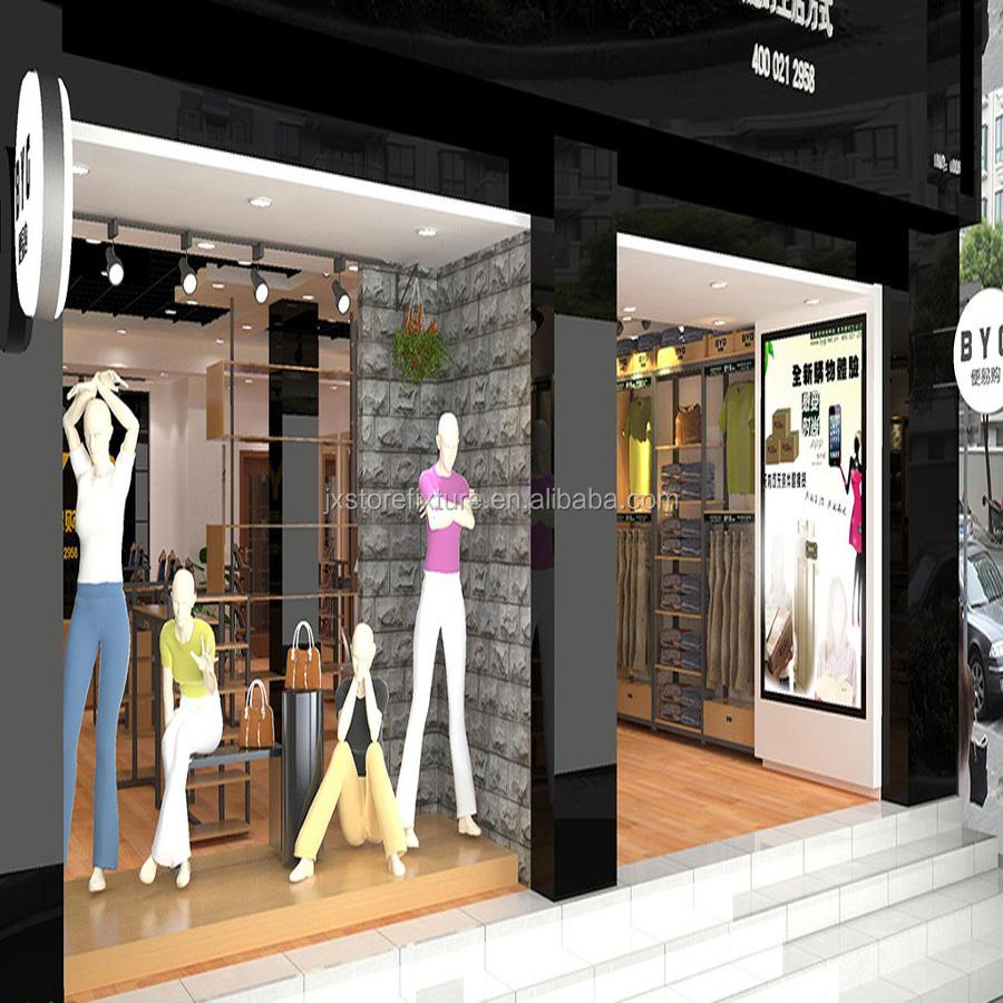 Briliant Ideal Clothes Displays Retail Garment Shop