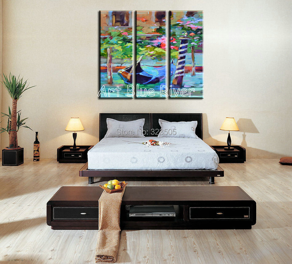 3 piece modern canvas wall art handmade picture decorative abstract oil painting canvas for. Black Bedroom Furniture Sets. Home Design Ideas