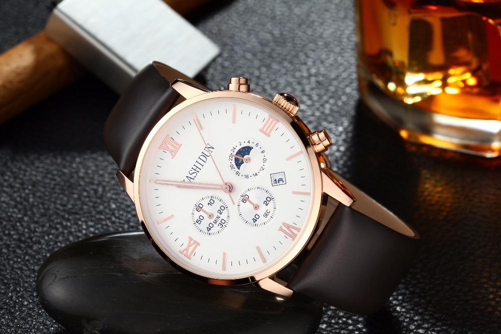 relogio masculino KASHIDUN Men Watches Top Brand Luxury Fashion Business Quartz Watch Men Sport Full Steel Waterproof Wristwatch