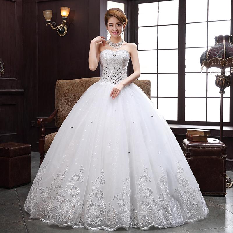 diamond top wedding dress - photo #10