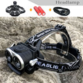 New Style CREE XML T6 2LED Zoomable Headlight Headlamp Fishing Head Lamp Light Flashlight 18650 battery