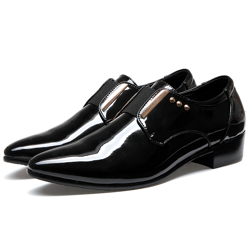 Mens Black Pointed Toe Dress Shoes Size