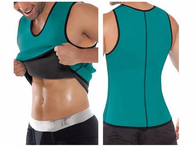 912f2c4f110a7 Men Hot Shapers Sweating Neoprene Waist Trainer Vest Cincher Waist Training  Corsets Sport Slimming Exercise Body