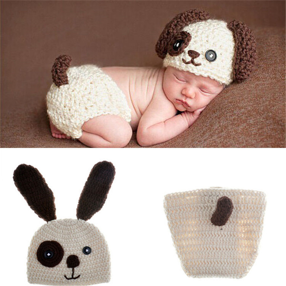 ad57abce6bf Detail Feedback Questions about Lovely Animal Designs Crochet Baby Hat and  Pants Set Infant Boy Photography Props Kids Toddler Knitted Clothes 1set  MZS ...