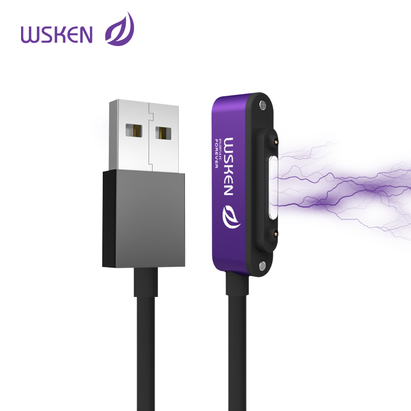 2c9ca80eb80 WSKEN Original brand Magnetic USB Cable For Sony Xperia Z3 Z2 Z1 Compact  Mini Z3 Tablet