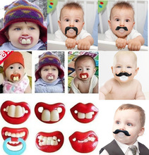 Silicone Joke Baby Pacifier Dummies Soother Prank Toddler Orthodontic Nipples Soft Feeding Bite Gags Boys Girls