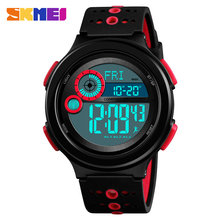 Skmei люксовый бренд мужские спортивные часы открытый компас военные наручные часы 50 м водонепроницаемые цифровые часы обратного отсчета ...(Китай)