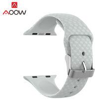 Силиконовый ремешок для часов iWatch Apple Watch 1, 2, 3, 4, 40, 44, 38, 42 мм, спортивный сменный браслет для мужчин и женщин(Китай)