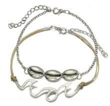 Tocona 2 шт./компл. летние богемные браслеты для женщин, серебристые волнистые веревки, цепочка для ног, пляжные украшения, оптовая продажа 6478(Китай)
