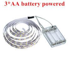 WELPUR батарея 5 в USB Светодиодная лента 2835 DC Светодиодная лампа Гибкая 50 см 1 м 2 м 3 м 5 м белый теплый для ТВ фона освещение ночник(Китай)