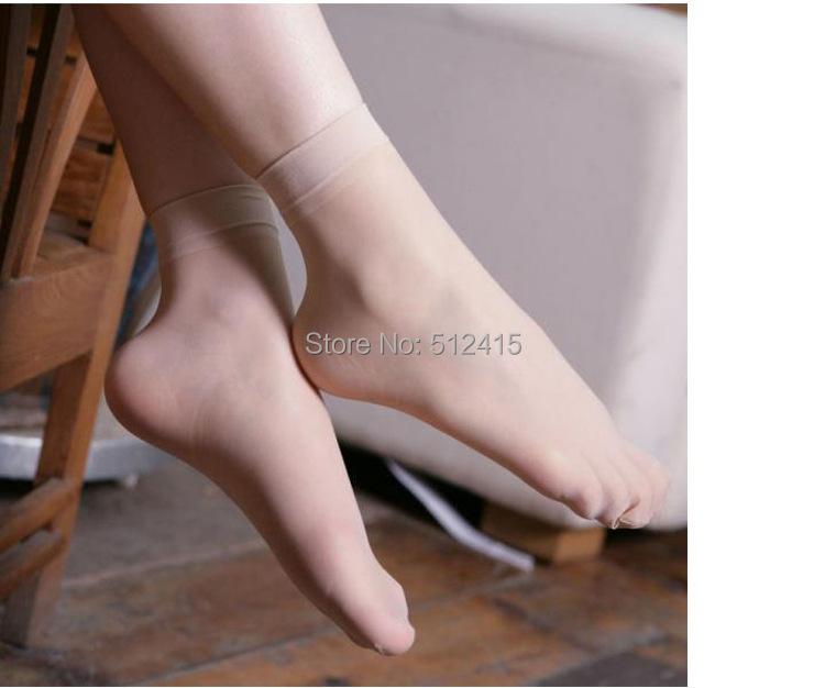 Леди в girlsTransparent тонкий кристалл короткая носки / женщины носки 9 базовые цвета обнажённый кофе серый черный носки для женщины