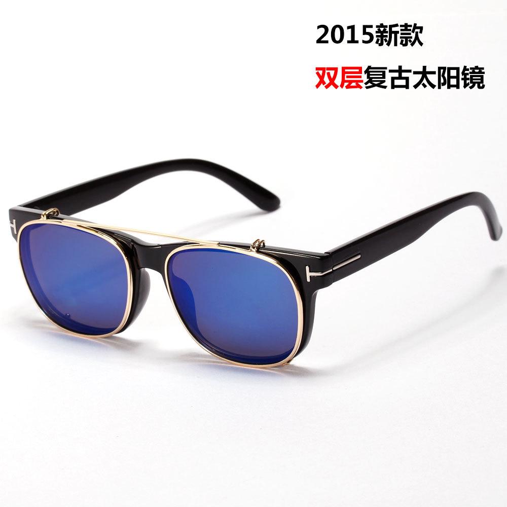 clip miroir bleu sur des lunettes de soleil heju blog. Black Bedroom Furniture Sets. Home Design Ideas