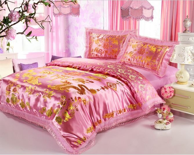 Light Pink And Gold Bedding: Popular Pink Gold Bedding-Buy Cheap Pink Gold Bedding Lots