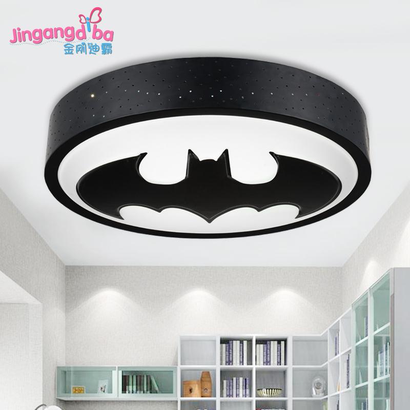 Boys Light Fixtures: S Creative Superman Children's Room Lamp LED Ceiling Lamp
