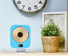 ECHFLIE CD Player Home Clock Radio Home with Wall Mounted Hifi CD Player Music + Fm Radio + Bluetooth+MP3/CD/WMA+USB