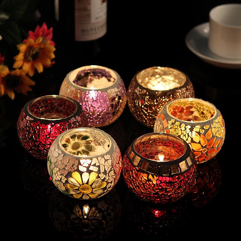 Aliexpress Com Buy Hot Sale Glass Mosaic Lantern Candle