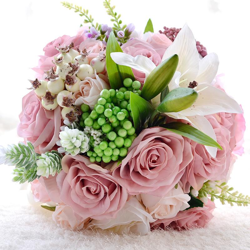 Peach Wedding Bouquet Promotion-Shop For Promotional Peach