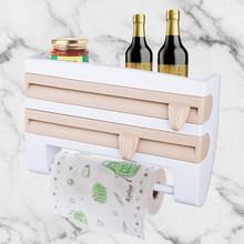 Настенная кухонная полка FRAP, полка для хранения бутылок с соусом, жестяная фольга, держатель для бумажных полотенец, кухонная полка, пластик...(Китай)