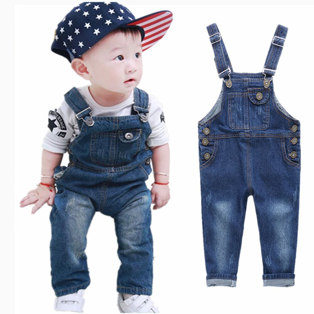 1e55361a5c8 2015 New Brand Denim Overalls for Girls   Boys Children s Jeans Jumpsuits  Boys Dungarees Quality Kids Bib Long Pants Trousers