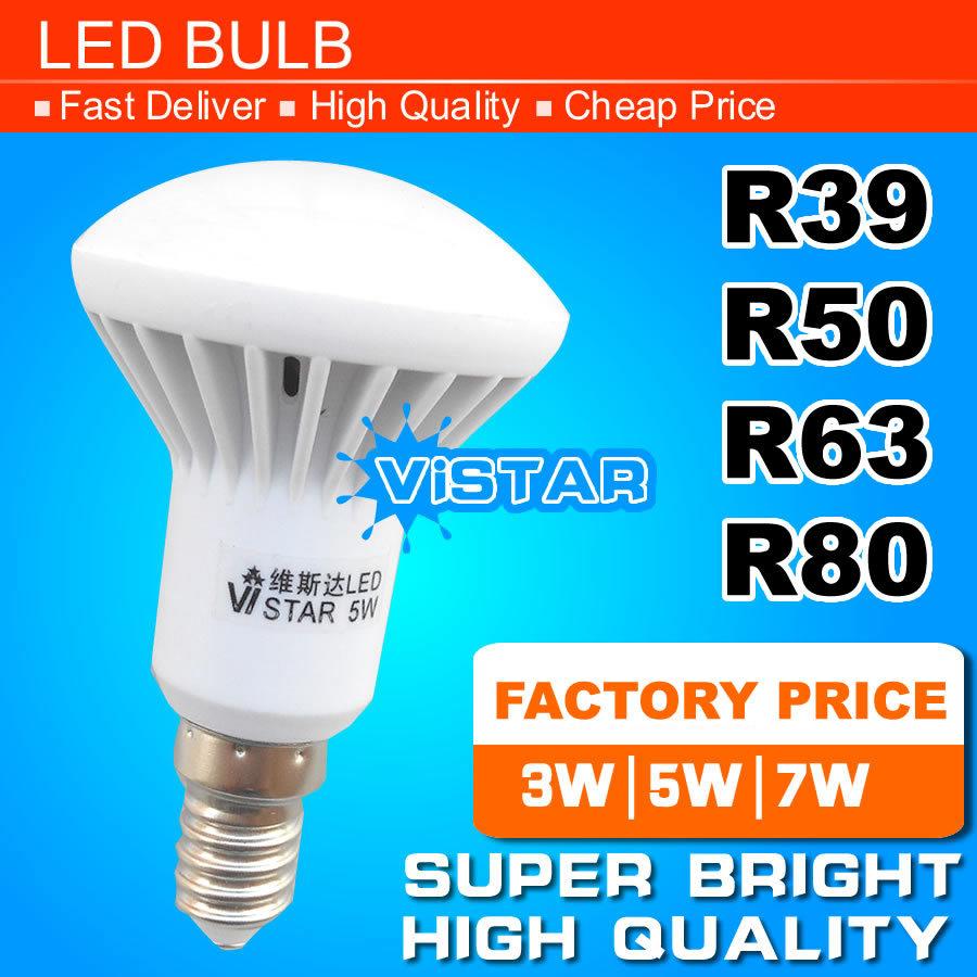R39 R50 R63 LED lamp E14 E27 Base 3W 5W 7W 9W 220V 230V 240V 12W