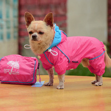 Small Pet Dog Hoody Jacket Rain Coat Waterproof Clothes Slicker Jumpsuit Apparel