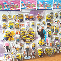 Cartoon stickers for kids Home wall decor on laptop Despicabl Me mini 3D sticker decal fridge