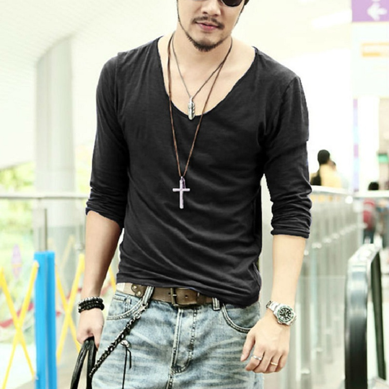 2015 Summer Hot Sale Cool Fashion Men's Clothing V neck ...
